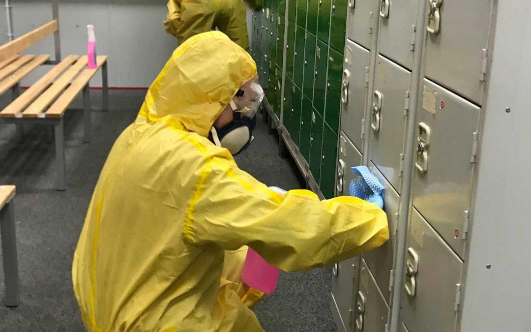 Coronavirus (COVID-19) Cleaning at Dairygold, Crewe, Cheshire