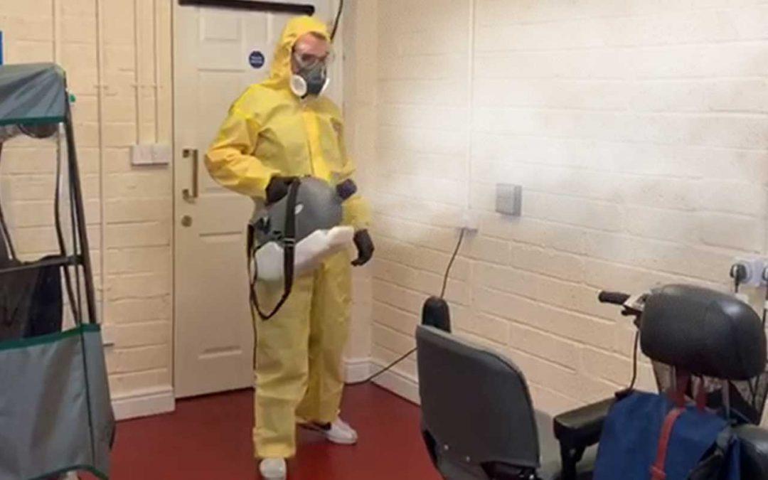 Coronavirus (COVID-19) Sanitation Clean at FirstPort Care Home, Aldershot